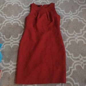 Talbots satin-lined red dress